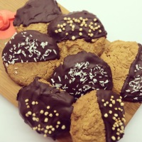 Boekweit-amandel koekjes, glutenvrij!