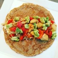 Boekweitwraps met kip en avocado